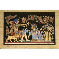 Papyrus Scène De Chasse - 33Ko