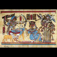 Papyrus Scène De Chasse - 42Ko