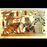 Papyrus Scène De Chasse - 52Ko