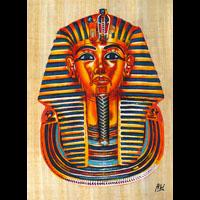 Papyrus Masque D'or De Toutankhamon (De Face) - 54Ko
