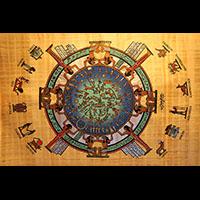 Papyrus Plafond Astronomique Dendérah Avec Les Signes Zodiacaux