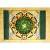 Papyrus Plafond Astronomique Dendérah Complet Turquoise
