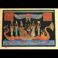 Papyrus Néfertari Et Les Déesses Sur La Barque - 48Ko