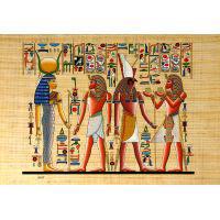 Papyrus Horemheb S'assure La Protection De 2 Dieux : Hathor + Horus - 34Ko