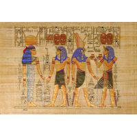 Papyrus Horemheb S'assure La Protection De 2 Dieux : Hathor + Horus - 28Ko