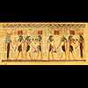 Papyrus Horemheb S'assure La Protection De 4 Dieux : Hathor + Horus +Seth + Isis