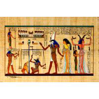 Papyrus Pesée De L'âme Inlay - 34Ko