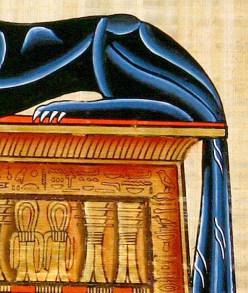 Model 49 shopegypt Veritable Papyrus Egyptien La Reine offrant des Fleurs /à Osiris Peints /à la Main 40 x 30 cm