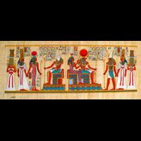 Papyrus Intronisation De Néfertari Devant Khépri - 39Ko