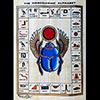 Papyrus Alphabet Hiéroglyphique Avec Scarabée Ailée
