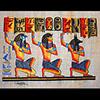 Papyrus Ramsès I Entourée Des Âmes De Pe Et Nekhen