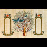 Papyrus Personalisable Arbre De Vie Avec 2 Cartouches - 34Ko