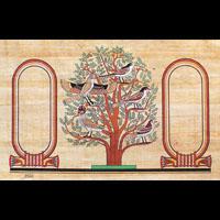 Papyrus Personalisable Arbre De Vie Avec 2 Cartouches - 35Ko
