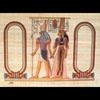 Papyrus Personalisable Horus Et Néfertari CG Avec 2 Cartouches