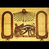 Papyrus Personalisable Oeil D'Horus Clair Dorée Avec 2 Cartouches
