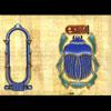 Papyrus Personalisable Scarabée Bleu Avec 1 Cartouche