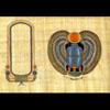 Papyrus Personalisable Scarabée Ailé Avec 1 Cartouche
