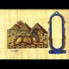 Papyrus Personalisable Pyramides Et Sphinx Avec 1 Cartouche