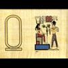 Papyrus Personalisable Ramsès III Offre Lotus À Hathor Avec 1 Cartouche