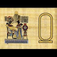 Papyrus Personalisable Dossier Du Trône De Toutankhamon Avec 1 Cartouche - 31Ko