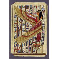 Carte Papyrus: Isis Au Pied Du Catafalque De Toutankhamon - 33Ko