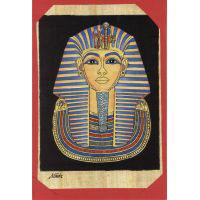 Carte Papyrus : Le Masque D'Or  De Toutankhamon - 30Ko