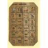 Carte Papyrus : Alphabet Hiéroglyphique