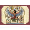 Carte Papyrus: Isis Au Pied Du Catafalque De Toutankhamon
