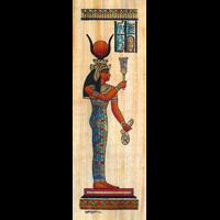 Papyrus  Déesse Hathor Jouant Du Sistre - 26Ko