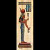 Papyrus  Déesse Hathor Jouant Du Sistre