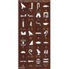 Pochoir  Hiéroglyphique En Bois