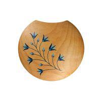 Solde : Applique Porte Fleurs Séchées Décor Lotus Bleu
