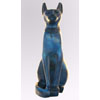 Chat Égyptien : Statue De La Déesse Bastet En Bleu