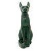 Chat Égyptien : Statuette De La Déesse Bastet En Vert