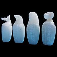 4 Vases Canopes En Steatite - 33Ko