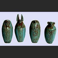 4 Vases Canopes En Steatite - 36Ko