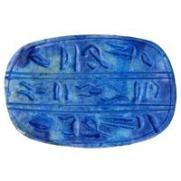 Scarabée Bleu En Céramique Gravé Avec Hiéroglyphes - 16Ko