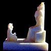 Statue Du Pharaon Horemheb Devant Atoum