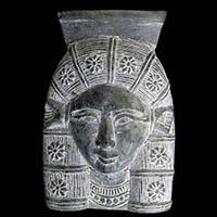 Statuette T�te D'Hathor En St�atite
