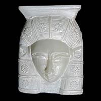 Statuette Tête D'Hathor En Stéatite