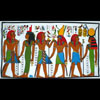 Set De Table Tombe D'Horemheb, Horus Et Néfertari