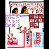 Lot De 7 Pieces ( 1 Set De Table + 6 Napperons) (Choix Aléatoire)  100 % Coton D'Egypte