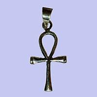Bijoux Pharaonique Croix Ankh Petite En Argent - 26Ko