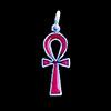 Bijoux Croix Ankh En Argent Avec Incrustation Cornaline