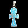 Bijoux Pharaonique Croix Ankh Avec Incrustation Turquoise