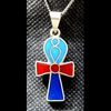 Bijoux Pharaonique Croix Ankh Turquoise, Lapis-Lazuli Et Cornaline