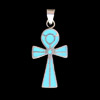 Bijoux Croix Ankh : La Croix De Vie En Argent Avec Incrustation Turquoise