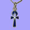 Bijoux Pharaonique Croix Ankh Avec Incrustation Lapis-Lazuli