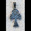 Bijoux Croix Ankh Avec Scarabée En Argent