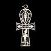 Bijoux Croix Ankh Avec Osiris En Argent
